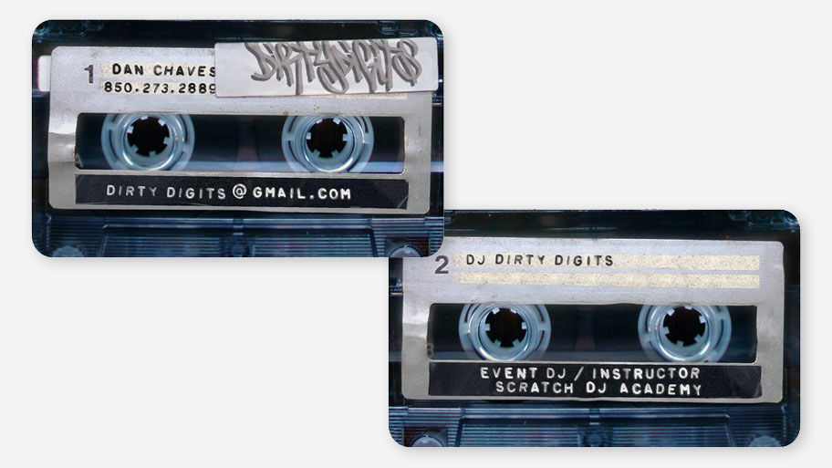 DJ Dirty Digits Business Card Image 1