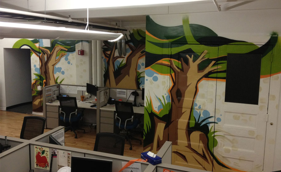 Tremor Video Office Mural Image 1