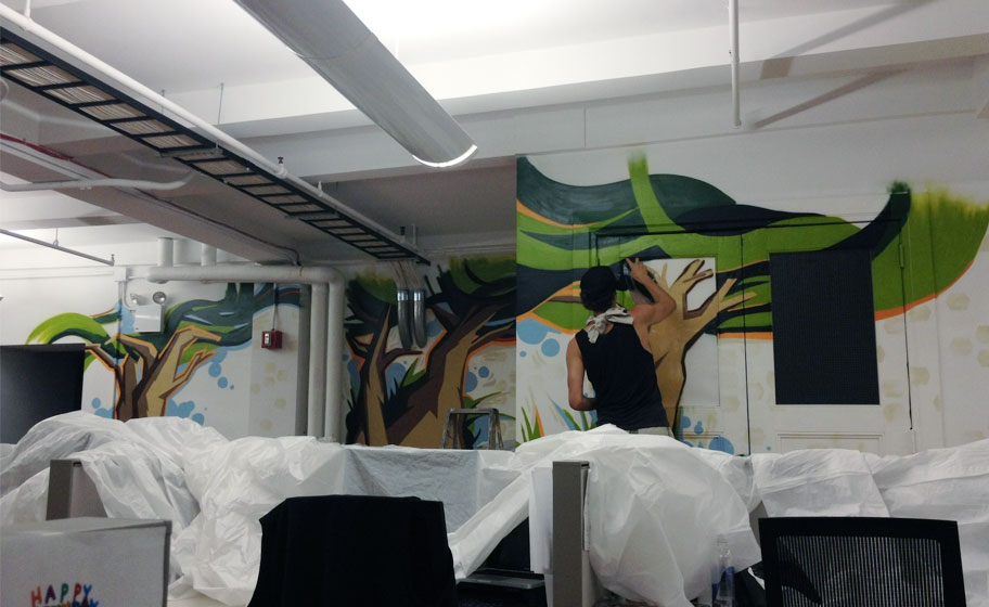 Tremor Video Office Mural Image 2